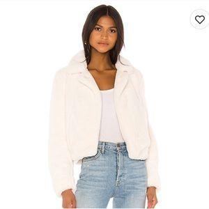 NWT! Blank NYC Faux Fur Cream Jacket